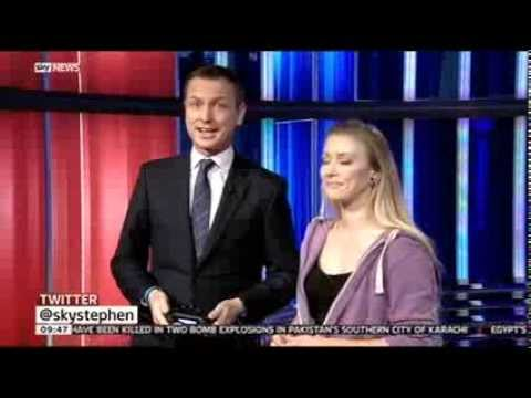 XBOX ONE & PS4 on a HUGE SCREEN Sky News:: 23rd Nov 2013