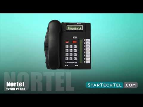 How To Program Speed Dials On The Nortel T7208 Phone