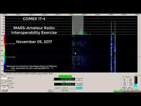 COMEX 17-4 MARS / Amateur Interoperability Exercise Ann, 5330.5 kHz USB mode, Nov 05 2017, 0300 UTC