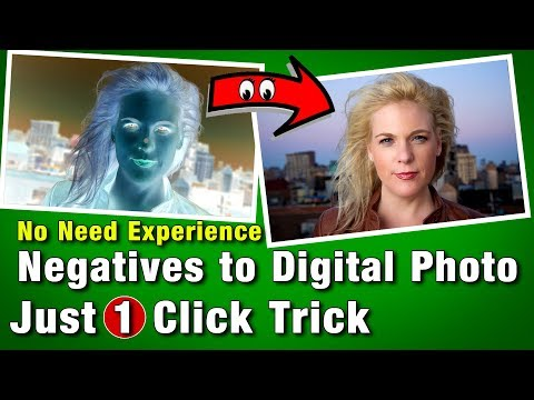 Negatives To DSLR Photo | How to Convert Old Negatives to Digital Photo | 1 Click Trick