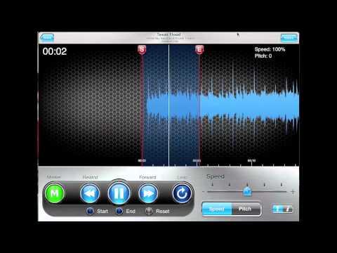 ipad riffmaster pro update 002 slowdown music to 25%