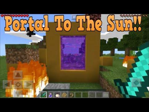 Minecraft Pe - Portal To Sun DIMENSION - Mcpe Portal To The Sun!!!