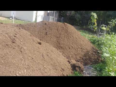 Wood chips plus cow manure
