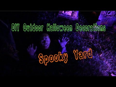 DIY Outdoor Halloween Decoration our Spooky Yard