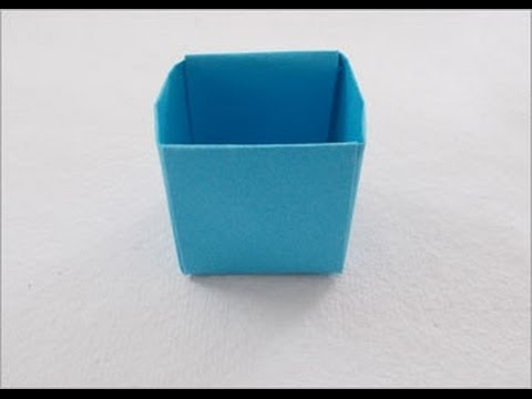 How to make easy origami paper box (Dustbin)