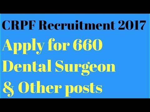 CRPF Recruitment 2017 . Apply for 660 posts.