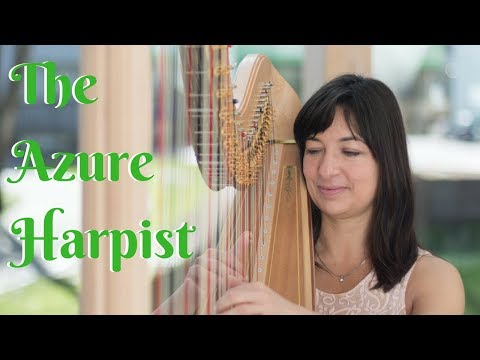 The Azure Harpist // Medley // Book Now At Warble Entertainment