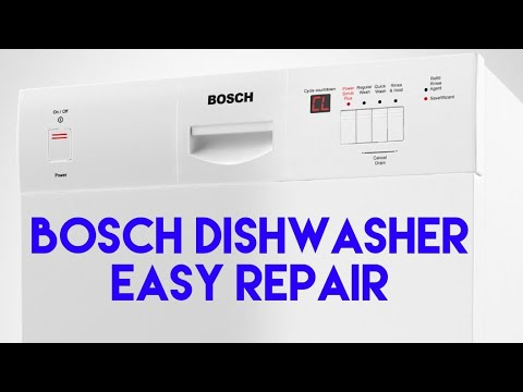 Bosch Dishwasher Correct Water Level