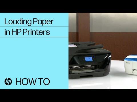 Loading Paper in HP Printers