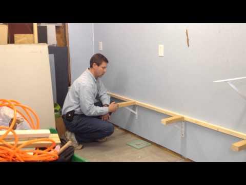 Installing shelves in shed or garage