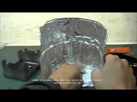 make a windscreen (dollar store aluminum foil)