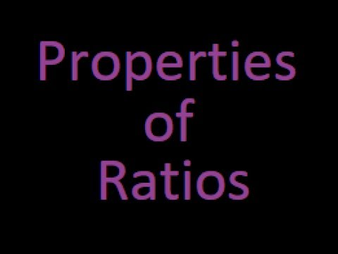 Properties of ratios : Ratio and proportions