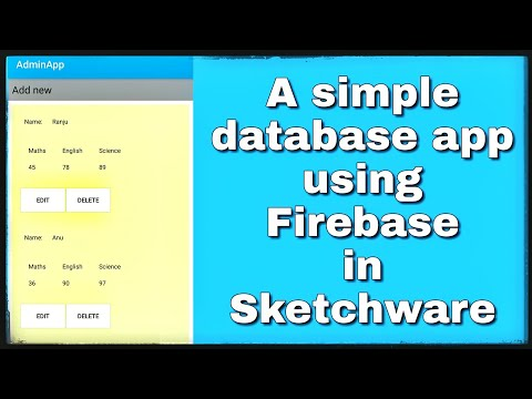 Simple Database app in sketchware