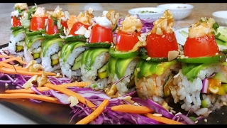Vegan Sushi | Spicy Coconut Crunch Roll | Tutorial