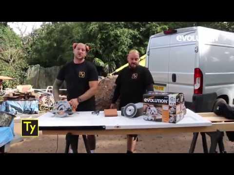 Evolution Rage1-B Circular Saw: Builders cut up a metal & wooden door!