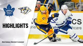 NHL Highlights   Maple Leafs @ Predators 1/27/20