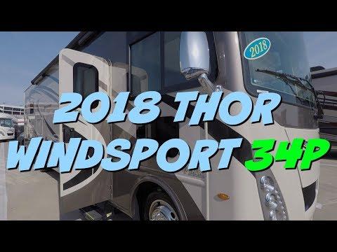 2018 Thor Windsport 34P Class A Motorhome at Camping World RV Show