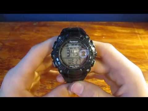 Armitron Men's Black Digital Watch Review!!