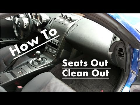 How to get the smell out of your interior - Seats Out Clean Out Nissan 350z