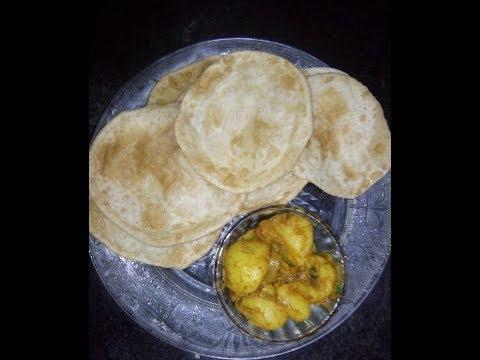 Maida ke poori Kolkata style luchi