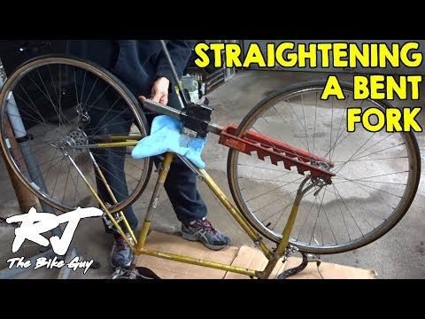 Straightening A Bent Bike Fork With Little Brute Fork Straightener Tool