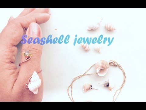 3 Sea shell DIY Jewelry | Necklace, Ring & Stud