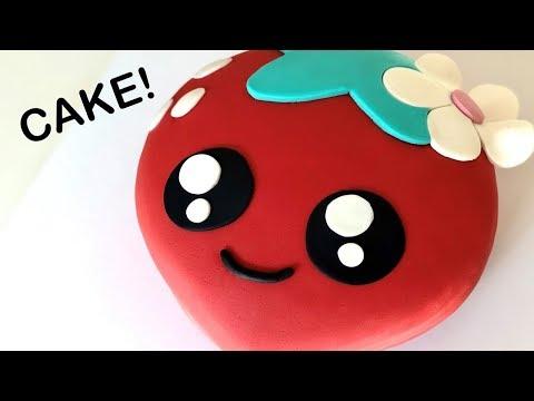 CUTEST Kawaii Strawberry CAKE!