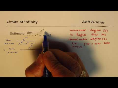 Limit at Infinity Rational Function with Higher Numerator Degree