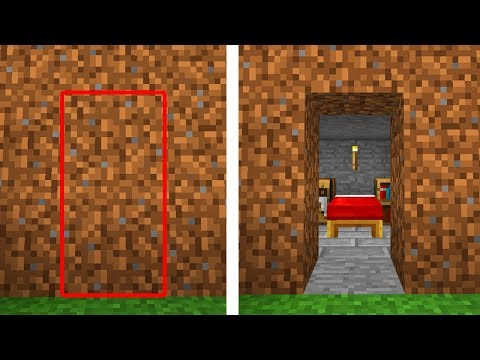 SECRET Entrances You Can Make in Minecraft! (Pocket Edition, Xbox, Switch, PC)