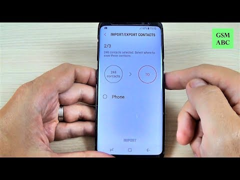 Samsung Galaxy S8, S8+, NOTE 8 - How to Copy Contacts from SIM to Phone Memory