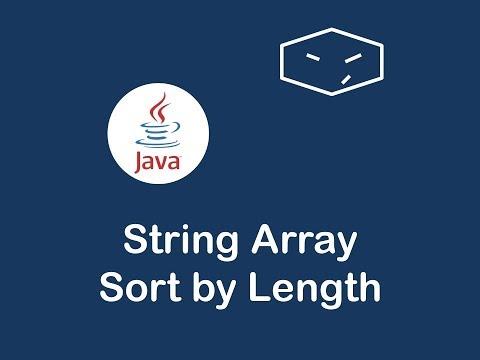 sort strings by length in java