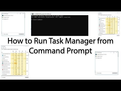 How to Run Task Manager from Command Prompt