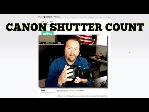 How To Determine A Canon Camera  Shutter Count