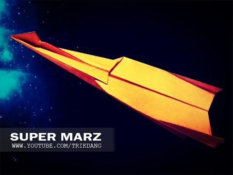 LONG DISTANCE PAPER PLANE - How to make a paper airplane that Flies FAST & FAR | Super Marz