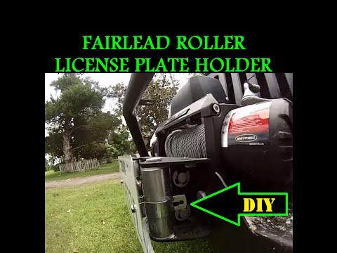 DIY Roller Fairlead License Plate Holder $5 Jeep Wrangler