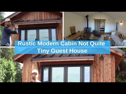 Rustic Modern Cabin Not Quite Tiny Guest House