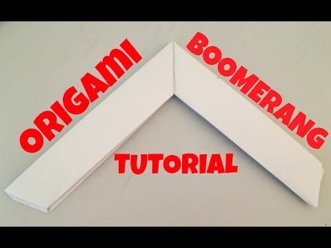 Origami BOOMERANG tutorial