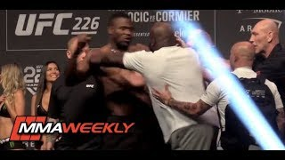 UFC 226 Ceremonial Weigh-In: Derrick Lewis Shoves Francis Ngannou