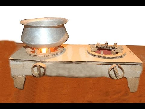 How To Make A cardboard Gas Stove easy and very simple new 2017