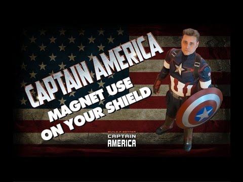 CAPTAIN AMERICA SHIELD Magnet use - BUILD A BETTER CAPTAIN AMERICA