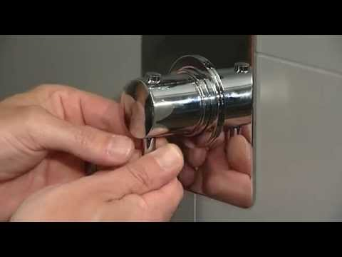 Concealed shower valve (polymer cartridge) - One way flow valve: maintenance and replacement