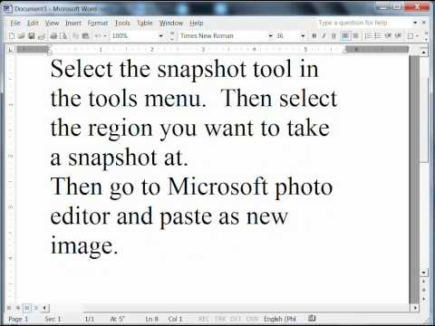 How to take snapshots of images in pdf files