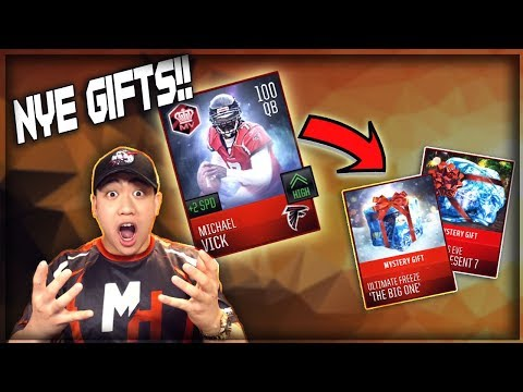 100 OVR MIKE VICK IN NEW YEAR EVA GIFTS!! MADDEN MOBILE 18 Gift Opening