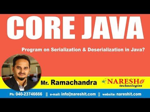 Core Java Tutorial | Program on Serialization & Deserialization in Java? | By Mr.Ramchander