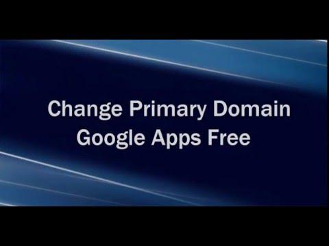 Remove Primary Domain Google Apps