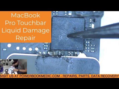 Macbook Pro Touchbar Liquid Damage with No Power Repair on Board 820-00239
