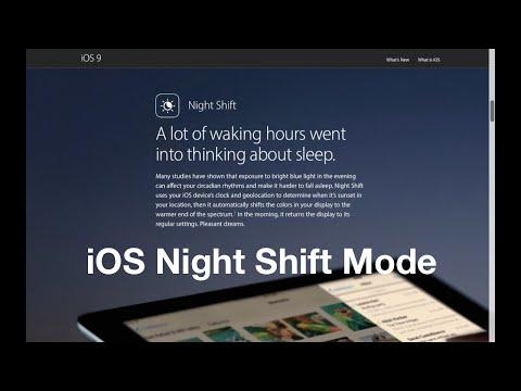 Night Shift Mode on iOS