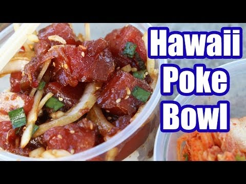 Amazing Hawaiian Poke Bowl at Kahuku Superette