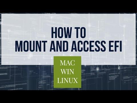Mount & Access EFI Partition on Mac / Windows / Linux !