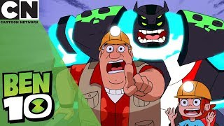 Ben 10 | Tense Minecart Chase | Cartoon Network